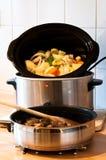 慢的烹饪器材 库存图片