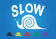 慢的蜗牛 免版税库存照片