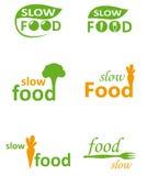 慢的食物 免版税库存照片