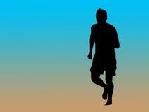 慢跑者剪影 库存图片