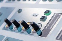 慰问混合 dj设备搅拌机音乐s合理的样式 库存图片