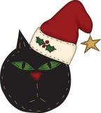 懊恼猫圣诞老人 免版税库存照片