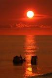 懒惰海滩的日 免版税库存照片
