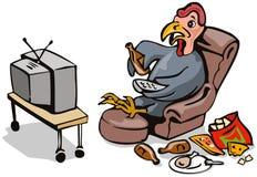 懒惰火鸡电视注意 向量例证