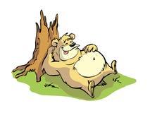 懒惰的熊 向量例证