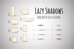 懒惰阴影 背景设计要素空白四的雪花 传染媒介模板 免版税库存图片