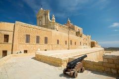 戈佐岛大教堂,维多利亚,马耳他 免版税库存照片