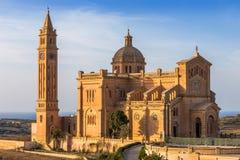 戈佐岛,马耳他-全国寺庙的大教堂保佑的  免版税库存照片