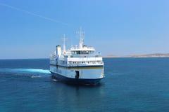 戈佐海峡线旅行在初夏 库存图片