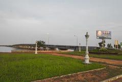 戈公岛brige找出戈公岛省柬埔寨王国brige给泰国房客 库存图片