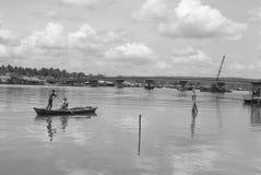 戈公岛brige找出戈公岛省柬埔寨王国brige给泰国房客 库存照片