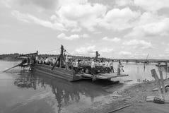 戈公岛brige找出戈公岛省柬埔寨王国brige给泰国房客 免版税库存照片