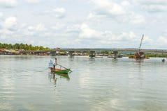 戈公岛brige找出戈公岛省柬埔寨王国brige给泰国房客 免版税图库摄影