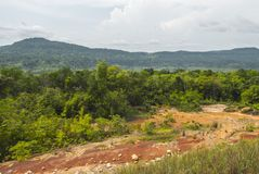 戈公省在柬埔寨 免版税库存照片