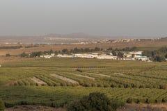 戈兰高地边界在以色列 免版税库存照片