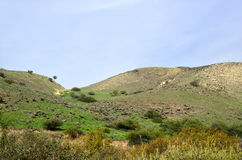 戈兰高地风景,以色列 免版税库存图片