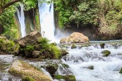 戈兰高地 Banias自然保护 Banias瀑布 免版税库存照片