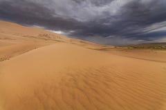 戈壁的沙丘的美丽的景色 免版税库存图片