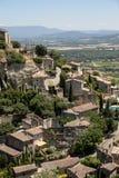 戈尔代中世纪小山顶镇  普罗旺斯 免版税图库摄影