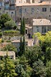 戈尔代中世纪小山顶镇  普罗旺斯 免版税库存照片