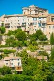 戈尔代,普罗旺斯,法国古老中世纪村庄  免版税库存照片