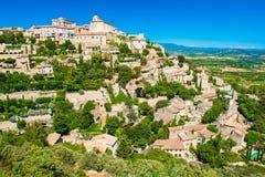 戈尔代,普罗旺斯,法国古老中世纪村庄  免版税库存图片