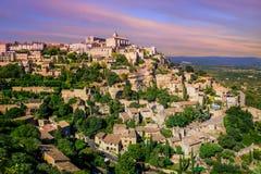 戈尔代,普罗旺斯,法国老镇  库存图片