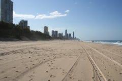 戈尔德比尤特海滩澳大利亚 免版税库存照片