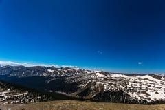 戈尔范围在洛矶山国家公园俯视 库存图片