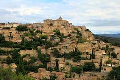 戈尔代中世纪小山顶镇  普罗旺斯 法国 免版税库存图片