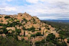 戈尔代中世纪小山顶镇  普罗旺斯 法国 免版税库存照片