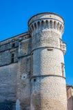 戈尔代中世纪村庄在南法国(普罗旺斯) 免版税图库摄影