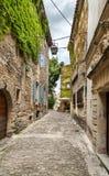 戈尔代中世纪村庄  法国 库存图片