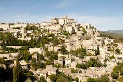 戈尔代中世纪村庄-法国 库存图片