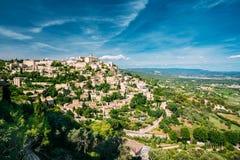 戈尔代古老村庄在普罗旺斯,法国 免版税图库摄影