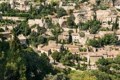 戈尔代古老村庄在普罗旺斯,法国 库存图片