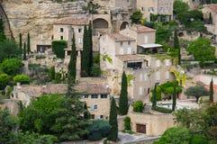 戈尔代村庄在普罗旺斯 免版税库存照片