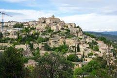 戈尔代村庄在普罗旺斯 免版税图库摄影