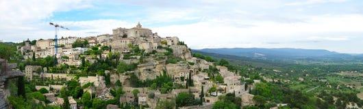 戈尔代村庄在普罗旺斯 库存图片