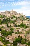 戈尔代村庄在普罗旺斯 免版税库存图片