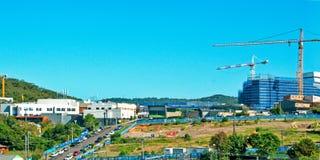 戈斯福德医院大厦进展H1ne 2017年4月 库存图片