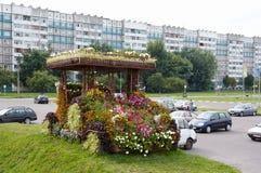 戈梅利,白俄罗斯, 2009年8月12日:在街道Efremova上的小建筑形式 免版税图库摄影