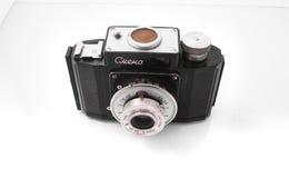 戈梅利,白俄罗斯- 2018年2月22日:摄制照相机SMENA制造的20世纪50年代的35 mm 库存图片