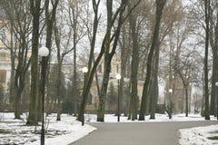 戈梅利,白俄罗斯- 2017年12月28日:Rumyantsevs的宫殿在城市公园 免版税库存图片