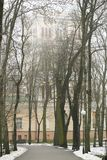 戈梅利,白俄罗斯- 2017年12月28日:Rumyantsevs的宫殿在城市公园 库存图片