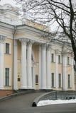 戈梅利,白俄罗斯- 2017年12月28日:Rumyantsevs的宫殿在城市公园 免版税库存照片