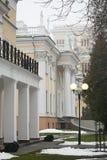 戈梅利,白俄罗斯- 2017年12月28日:Rumyantsevs的宫殿在城市公园 图库摄影