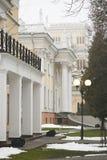 戈梅利,白俄罗斯- 2017年12月28日:Rumyantsevs的宫殿在城市公园 库存照片