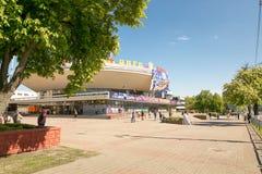 戈梅利,白俄罗斯- 2017年5月14日:在Sovetskaya街的马戏大厦在市戈梅利 库存照片
