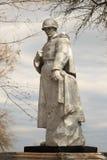 戈梅利,白俄罗斯- 2017年4月19日:对在WWII死的一个无名战士的纪念碑 免版税库存照片